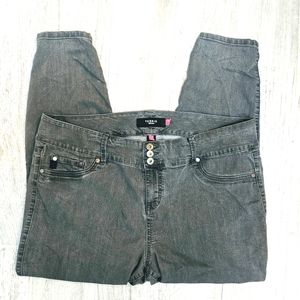 2/$30 Torrid High Rise Gray Skinny Jeans 22R